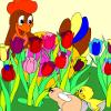 Kids coloring: Peekaboo i